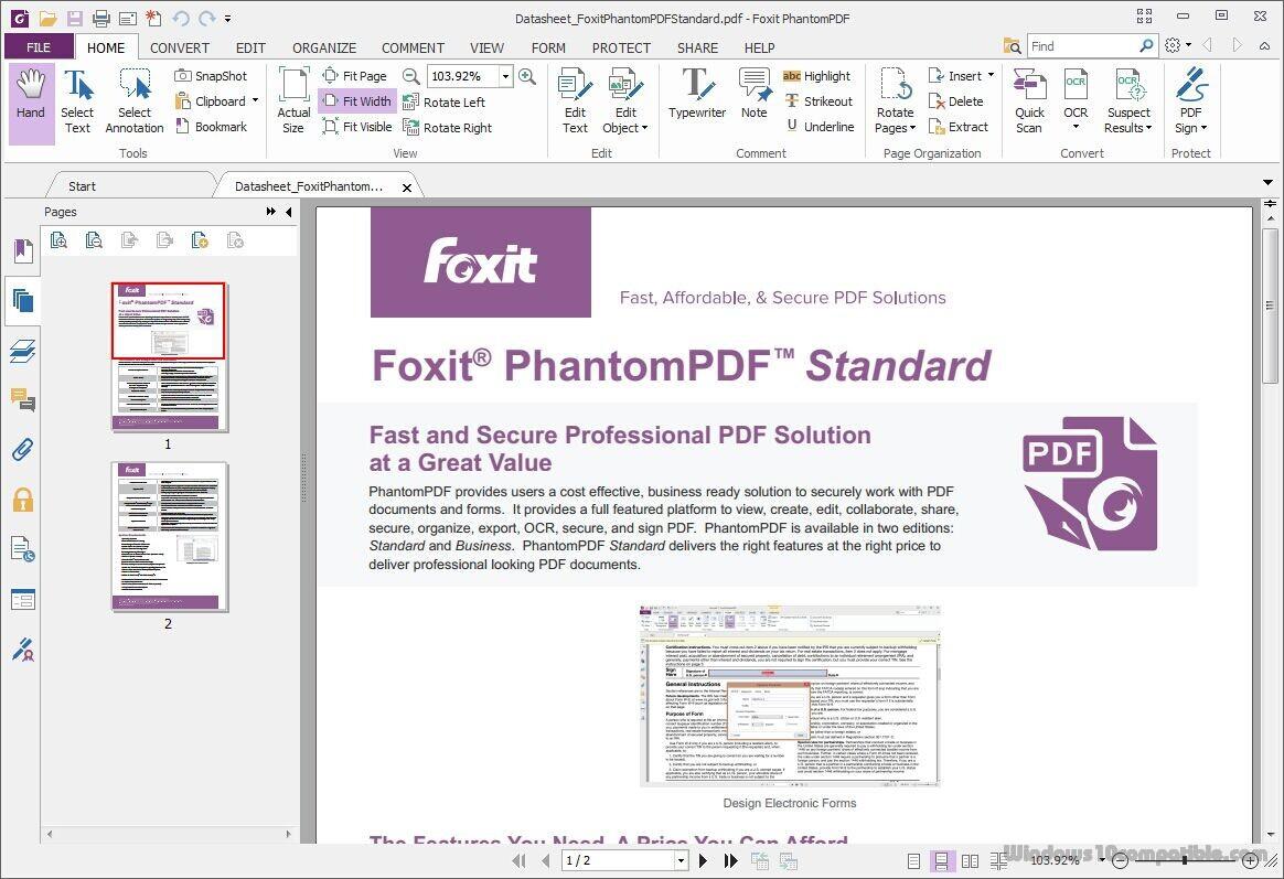 free download version reader foxit